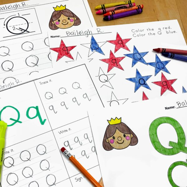 Letter Q Lessons and Worksheets