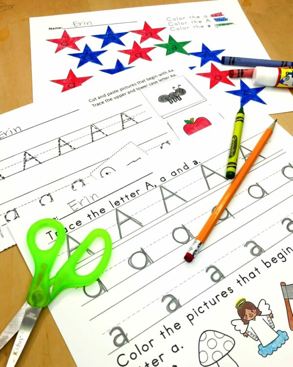 Letter A Lessons/Worksheets