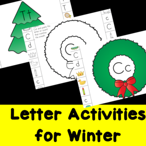 Letter Activities for Winter