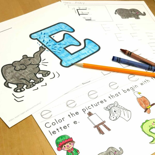 Letter E Lessons and Worksheets
