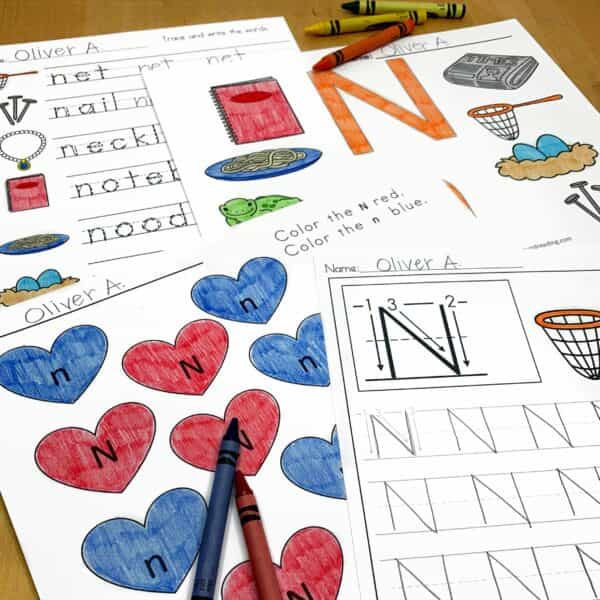 Letter N Lessons and Worksheets
