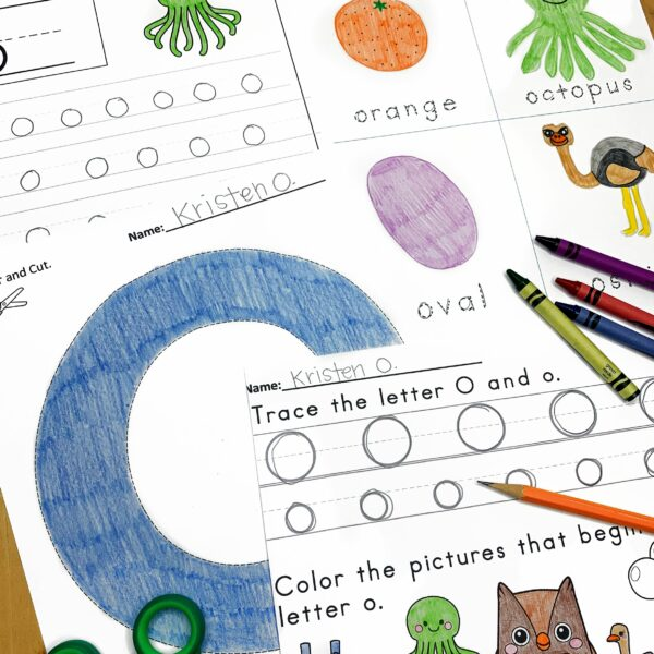 Letter O Lessons and Worksheets