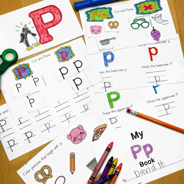 Letter P Lessons and Worksheets
