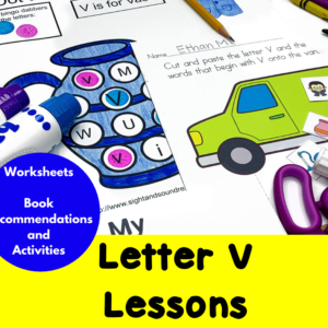 Letter V Lessons for Kindergarten