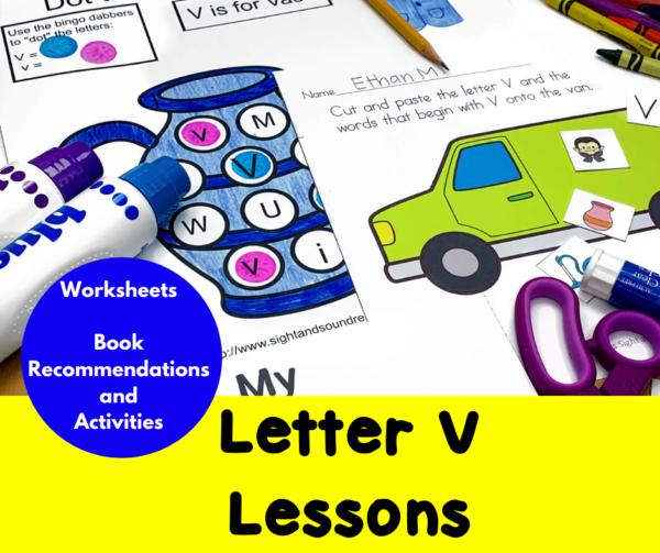 Letter V Lessons for Kindergarten