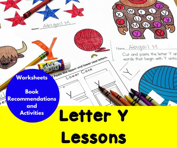 Letter Y Lessons for Kindergarten