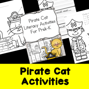 Pirate Cat activities for Kindergarten to go with Pete the Cat Pirate book