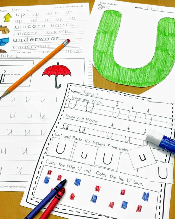 Letter U Lessons and Worksheets