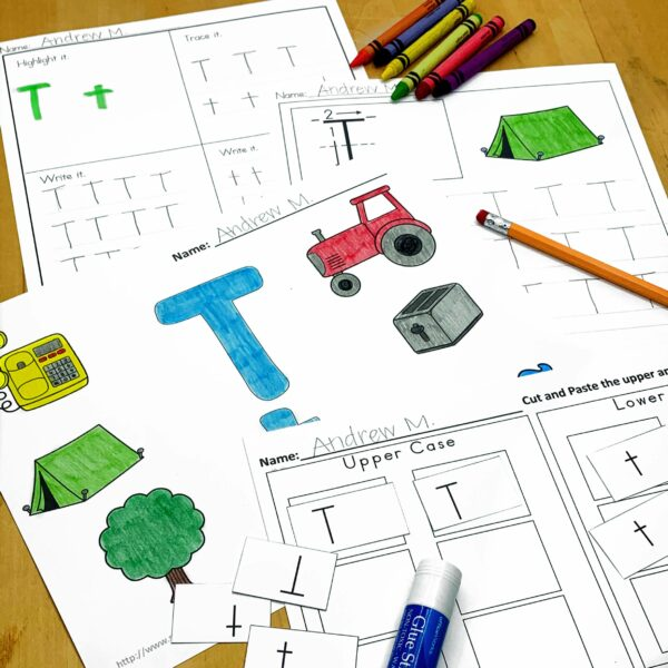 Letter T Lessons and Worksheets