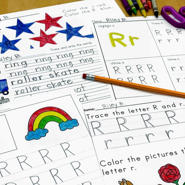 Letter R Lessons and Worksheets