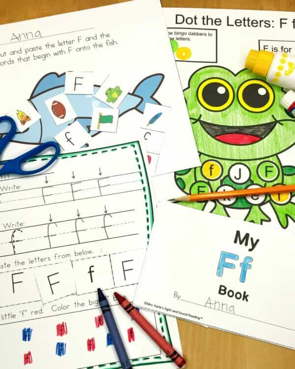 Letter F Lessons and Worksheets