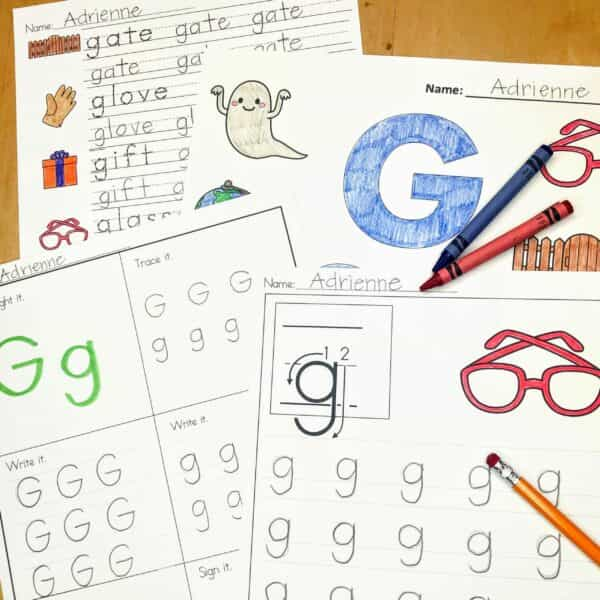 Letter G Lessons and Worksheets