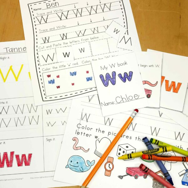 Letter W Lessons and Worksheets