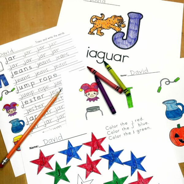 Letter J Lessons and Worksheets