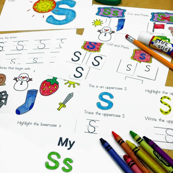 Letter S Lessons and Worksheets