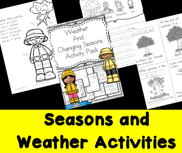 Seasons and Weather activities for Kindergarten