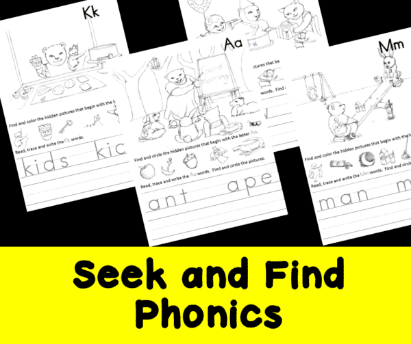 Seek and Find Phonics Activities
