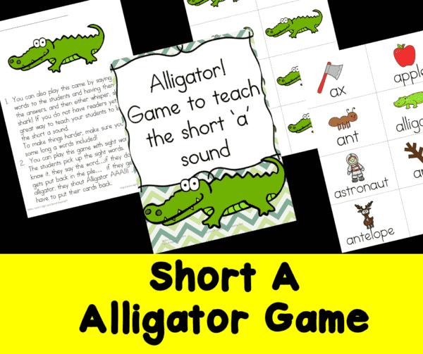 Short A Alligator Game