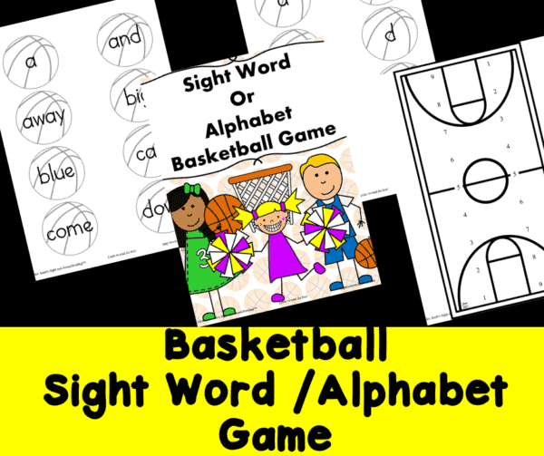 Sight Word Basketball game for K-2