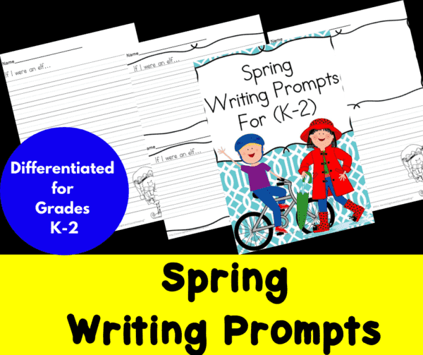 Differentiated Spring Writing Prompts for Kindergarten through Second Grade