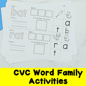 CVC Word Family Activities and Lessons