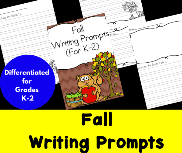 Differentiated Fall Writing Prompts for Kindergarten through Second Grade