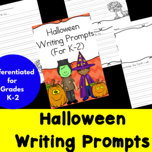 Differentiated Halloween Writing Prompts for Kindergarten through Second Grade