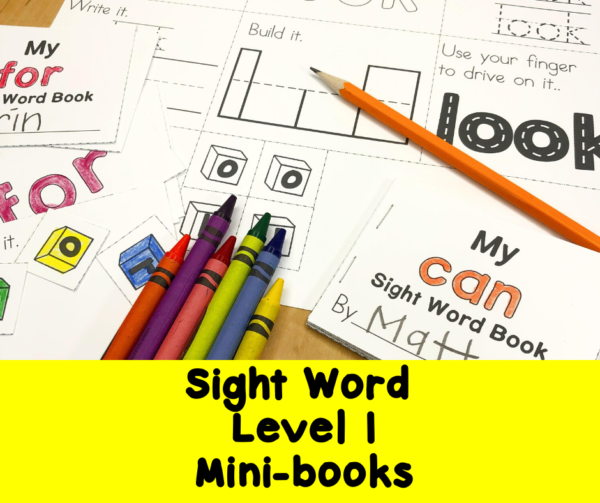 Fry Sight Words 1-25 minibooks