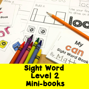 Dolch Sight Word Level 2 minibooks