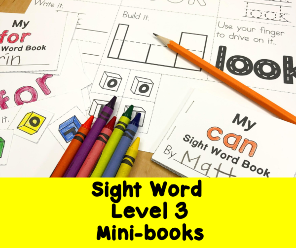 Dolch Sight Words Level 3 Minibooks