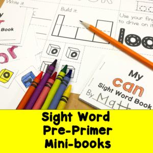 Dolch Sight Word Pre-Primer Minibooks