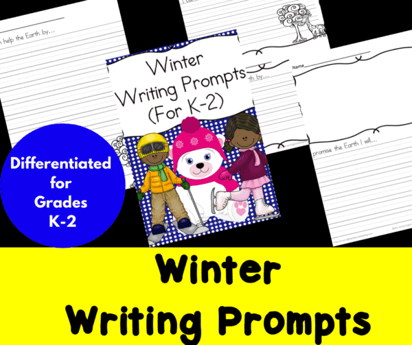 Differentiated Winter Writing Prompts for Kindergarten through Second Grade
