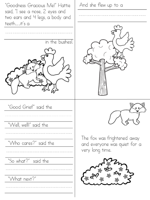 Hattie and the Fox activities for Kindergarten