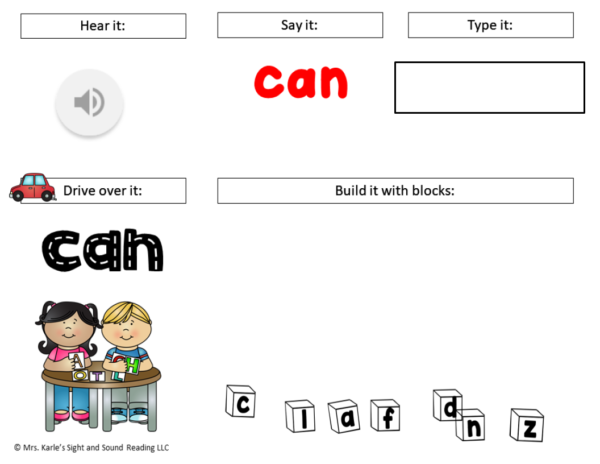 Distance Learning Digital Sight Word Pre-Primer Activity