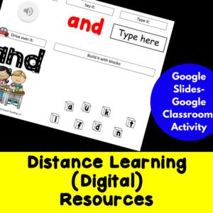 Distance Learning Digital Resources for Kindergarten