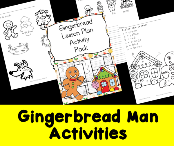Gingerbread Man activities for Kindergarten